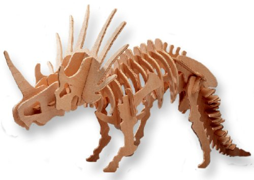 All4LessShop Educational Products - 3-D Wooden Puzzle - Small Styracosaurus -Affordable Gift for your Little One! Item #DCHI-WPZ-J006A - Puzzle consists of 36 interlocking pieces.