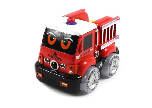 FUN EXCITING Electric Single Function Mini Cartoon Auto Fire RTR RC Truck w/ Light Up Wheels