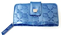 Loungefly Hello Kitty Navy Blue Embossed Wallet SANWA0214