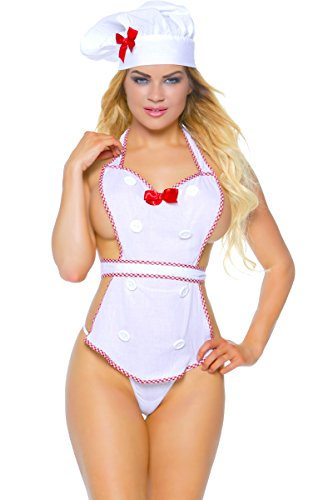 3WISHES 'Sexy Cakes Costume' Naughty Chef Costumes for Women