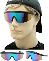 80's Vintage Neon Splattered Wrap Sunglasses