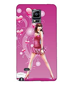 Fuson Long Legs Girl Back Case Cover for SAMSUNG GALAXY NOTE 4 - D4010