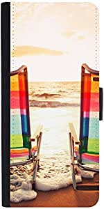 Snoogg Sandy Beach 15Designer Protective Flip Case Cover For Apple Iphone 6