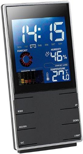 infactory-Portable-Design-Wetterstation-mit-Wettervorhersage-Wecker