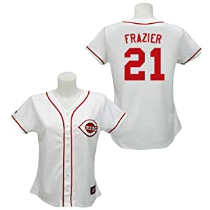 Todd Frazier Cincinnati Reds Home Ladies Replica Jersey by Majestic by Majestic
