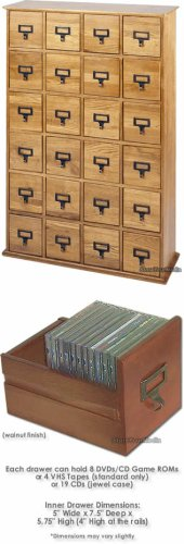 Leslie Dame CD-456W Library Style Cabinet Multimedia Storage