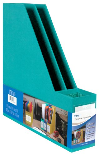 Mead Labeled Desktop File, Teal (72304) (Teal Office Supplies compare prices)
