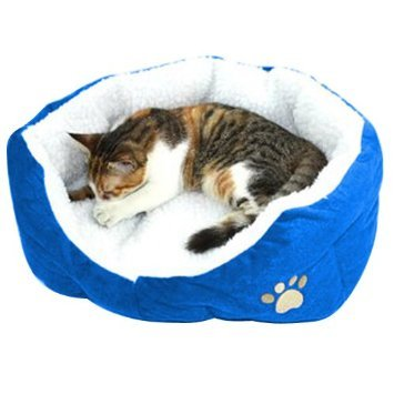 Liroyal Warm?Indoor?Soft?Fleece?Puppy?Pets?Dog?Cat?Bed?House?Basket?with?Mat?waterproof