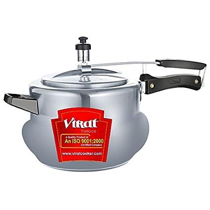 Virat Famous Handi Aluminium 2 L Pressure Cooker (Inner Lid)
