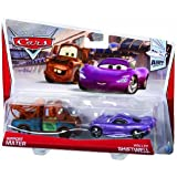 Disney/Pixar Cars Mater with Shadow of Team Logo and Holly Diecast Vehicle, 2-Pack