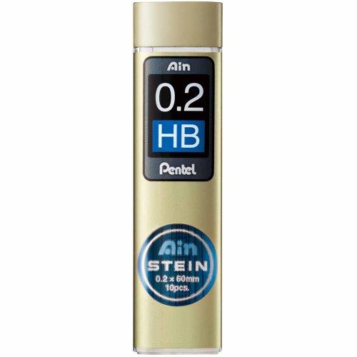 Pentel C272-HB Ain Stein 0.2mm Refill Leads Bulk Pack (10 tube) - Black Lead
