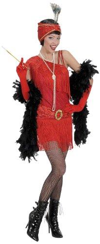 73002 - Erwachsenenkostüm Charleston, Kleid und Kopfbedeckung
