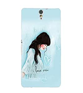 Fuson Cute Girl Back Case Cover for SONY XPERIA C5 ULTRA - D3894