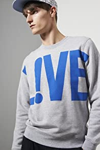 L!ve Crewneck live Graphic Sweatshirt