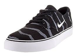 Nike Kids SB Clutch Prm (GS) Blk/White/Gm Lght Brwn/Drk Gry Skate Shoe 7 Kids US