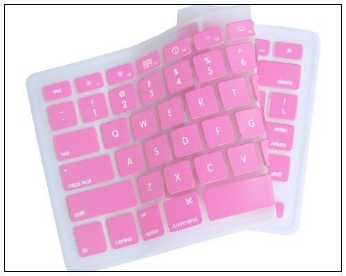 "Silicone Keyboard Cover for Apple MacBook Pro 13""-15"" Pink"