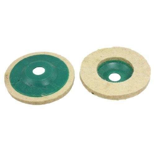 Amico 50mm Inner Dia Wool Felt Polishing Wheel Abrasive Disc 2 Pcs