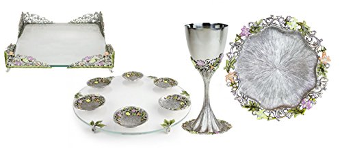 Magnificent Freesia Seder Set by Quest, Options Kiddush Cup Set (Quest Kiddush Cup compare prices)