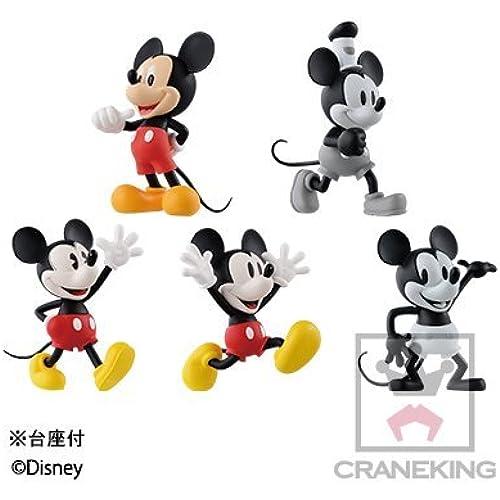 디즈니 캐릭터즈 월드 콜렉터블 피규어-HISTORY OF MICKEY MOUSE- 전5종 세트-