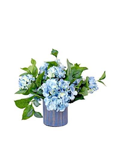 Creative Displays Inc. Garden Hydrangea Planter, Blue/Green