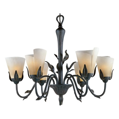B000J169P0 Quoizel YU5149IB Yuma 6 Light Chandelier