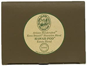 Aloha Island Coffee KONA-POD, Estate Blend Medium Roast, Kona & Hawaiian Coffee Blend, 36-Count Coffee Pods