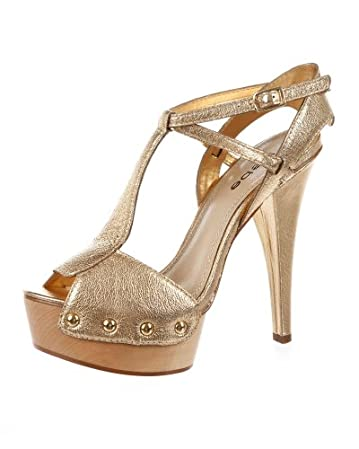 bebe Meg Metallic Platform Sandal - bebe.com :  platform shoes bebe gold