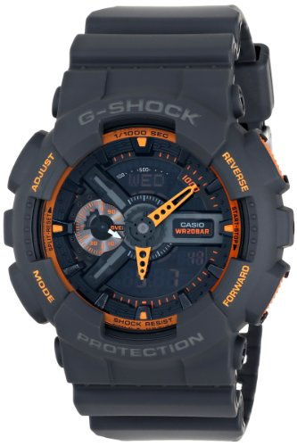 Casio Men's GA-110TS-1A4 G-Shock Analog-Digital Display Quartz Grey Watch