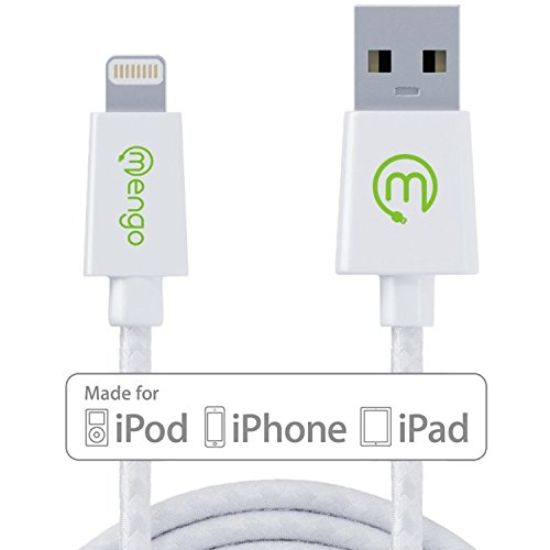 Cable Lightning Mengo MG100 certificado por Apple MFi de 2 metros trenzado anti enredos para iPhone y iPad