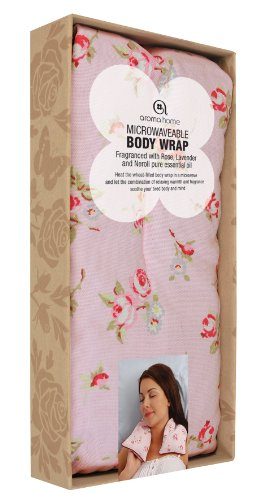 Aroma Home Pink Rose Bud Pattern  Microwavable Body Wrap
