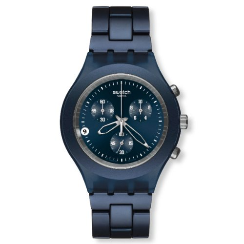 Swatch Men's Full-Blooded Watch SVCN4004AG Smoky Blue