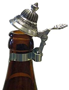 Bottle Pewter Beer Stein Lid by Oktoberfest Haus