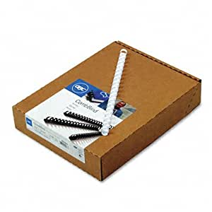 GBC CombBind Binding Spines, 0.5-Inch Spine Diameter, White, 90 Sheet Capacity, 100 Spines  (4000062)