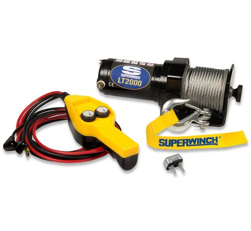 Superwinch 1220210 LT2000 Utility 12 VDC winch, 2000lb/907kg, 6ft/1.8m hand-held remote control