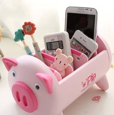 Ning store pink creative korea fashion cute lovely pig - Cute desk accessories and organizers ...