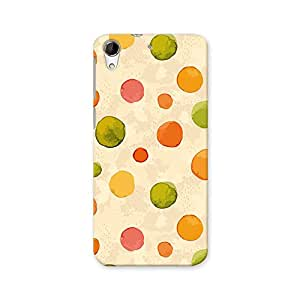 ArtzFolio Watercolor Dots : HTC Desire 728G Dual Sim Matte Polycarbonate ORIGINAL BRANDED Mobile Cell Phone Protective BACK CASE COVER Protector : BEST DESIGNER Hard Shockproof Scratch-Proof Accessories