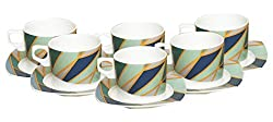 Claycraft 301 Juliet Cup and Saucer, 200ml/6.9cm, 12-Pieces, Multicolour