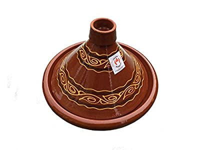 Moroccan Tagine Cooking Pot Terracotta Authentic Rustic Hand-thrownhand-painted 34cm 132 from Truly Moroccan