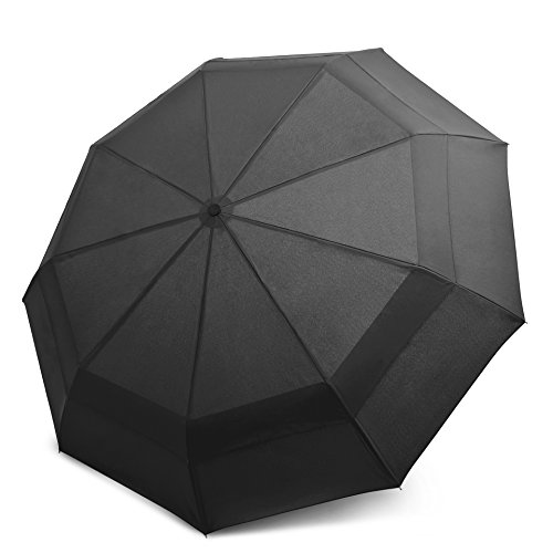 EEZ-Y Windproof Double Canopy Construction Compact Travel Umbrella (Family Rain Umbrella compare prices)