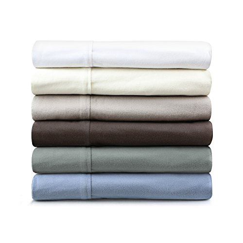 190-Gram Flannel Sheet Set By Malouf Cal King Coffee front-801769