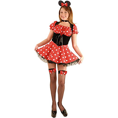 Sexy Adult Minnie Mouse Costume (Size: Medium 8-10)