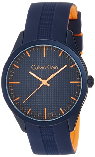 Calvin Klein Unisex Analogue Watch with Blue Dial Analogue