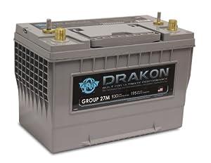 Drakon 40880 Gray/Blue 'Group 24' High Performance Pure Lead AGM Marine Battery