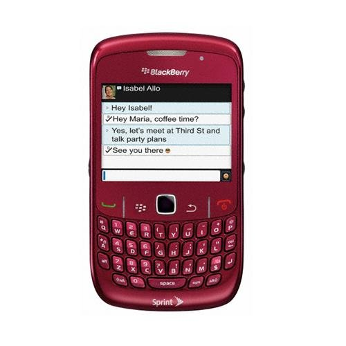 Sprint Blackberry 8530 Curve Cell Phone 3G (Red)