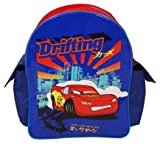 Disney Cars Drifting, Backpack, Side Pockets, Lightning Mcqueen Picture, Blue