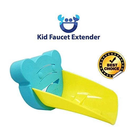 ★ TOP #1 ★ Kid Faucet Extender™ ★ Teach Your Kid to Wash ★ Harmless Easy Clean up ★ Fits Standard Sinks ★ Dishwasher Safe ★ Durable Polyethylene Plastic ★ BPA, PVC, Phthalate Free ★ Cute Design ★ Easy to Install - 238.2