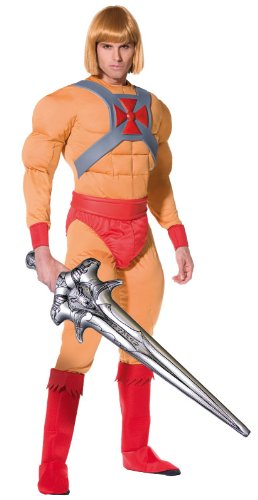 He Man/Prince Adam 80s Cartoon Costume with sword.