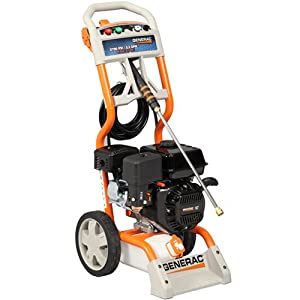 Generac 6022/5989 2,700 PSI 2.3 GPM 196cc OHV Gas Powered Residential Pressure Washer