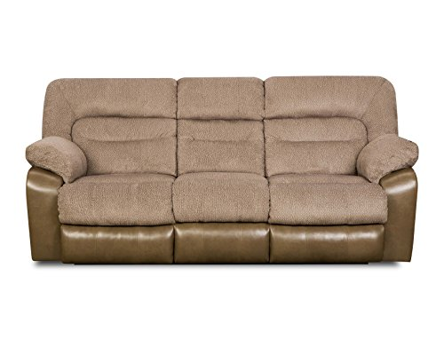 Simmons Upholstery 50310P-68 Tonto Taupe Power Double Motion Sofa front-923892