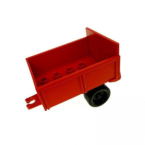 1 x Lego Duplo Anhänger rot Fahrgestell Kipp